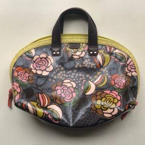 Fossil Key-Per Coated canvas handbag. EUC